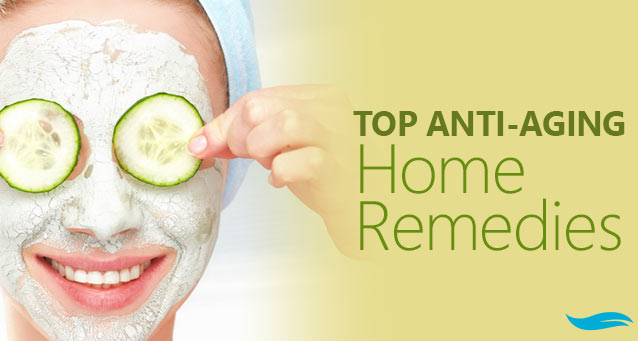 Top Anti-Aging Home Remedies | Girl with homemade mask and cucumbers on face | Jiva Spa Toronto anti aging facials beauty spa salon skin rejuvenation medispa