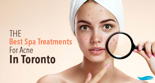 The Best Spa Treatments For Acne In Toronto | zooming face with magnifier | Jiva Spa Toronto anti aging facials beauty spa salon skin rejuvenation medispa