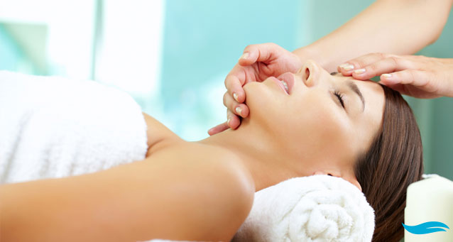 Facials at home and facial spa | Woman on bed | Jiva Spa Toronto anti aging facials beauty spa salon skin rejuvenation medispa