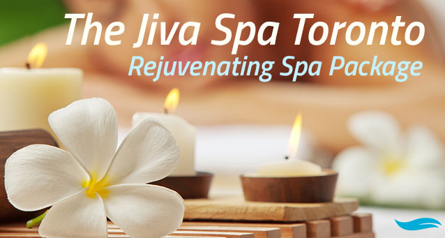 The Jiva Spa Toronto Rejuvenating Spa Package | Candles with a flower | Jiva Spa Toronto anti aging facials beauty spa salon skin rejuvenation medispa