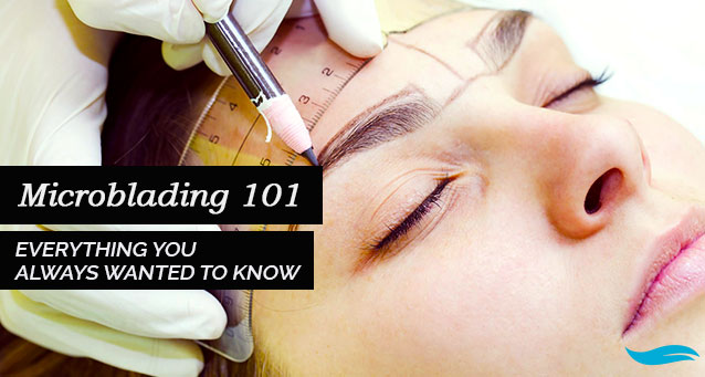 Everything You Always Wanted To Know About Microblading | lady flapping her hair in front of the sun | Jiva Spa Toronto anti aging facials beauty spa salon skin rejuvenation medispa